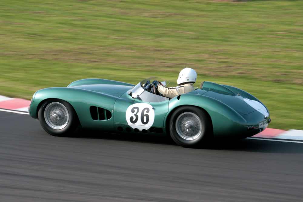 Adrian Beecroft with his wonderful Aston Martin DBR1/300