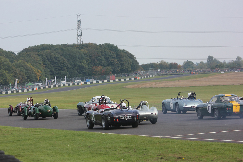 Off the start, John Ure grabs the lead in the Cooper Bristol                          Photo - Pat Arculus, Tripos Media