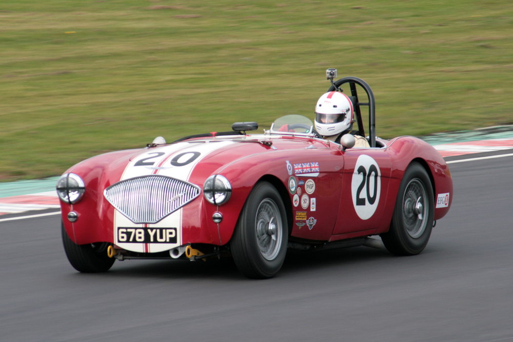 Jonathan Abecassis in his Left Hooker, Austin Healey 100/4                            Photo - John Turner