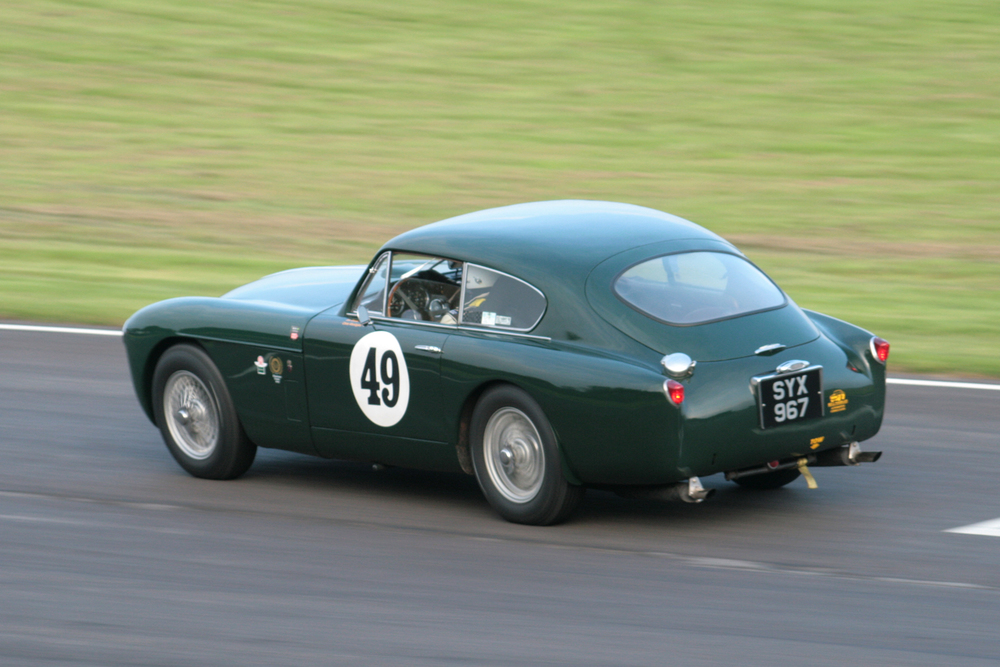 Chris Woodgate pressing on in the Aston Martin DB MkIII that Jon Gross had campaigned for so long                 Photo - JohnTurner