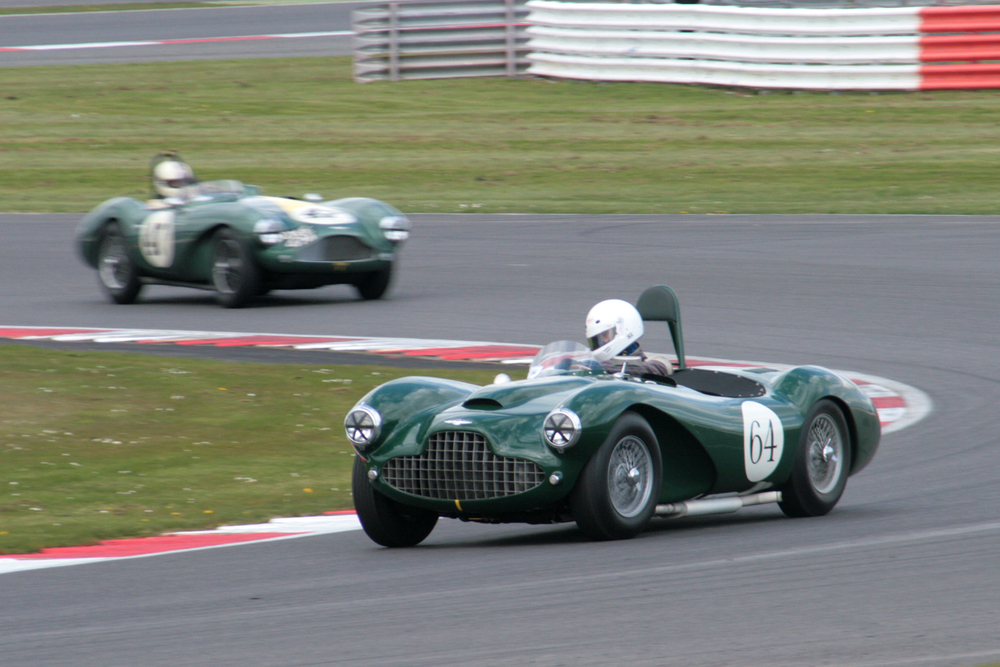 Darren McWhirter leads Steve Boultbee-Brooks.The Aston Martin team also won the Inter-Marque challenge so a very successful outing for the products of Feltham  Photo - John Turner