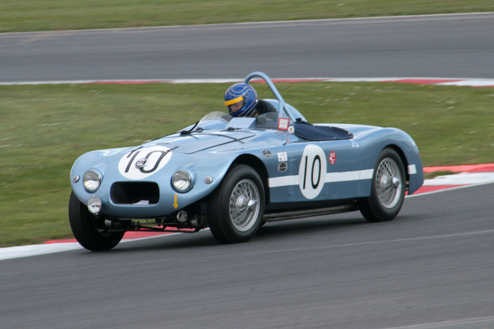 Sam Stretton in the Nash Healey Le Mans                                 Photo JohnTurner