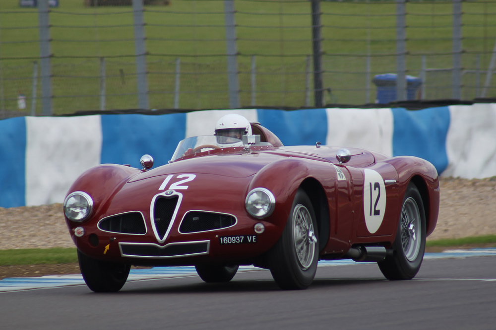 Improved braking for Chris Mann in his Alfa Romeo Disci Volante                                              Photo - Bob Bull, Tripos Media
