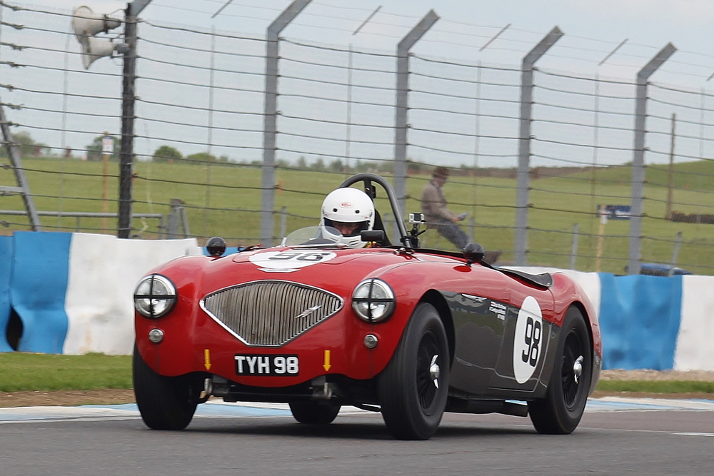 Nick Matthews heads to victory in his Austin Healey 100/4                                               Photo - Bob Bull, Tripos Media