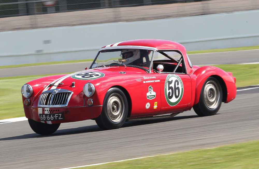 Shaun Bromley at speed in the MGA                                                       Photo - Mick Walker