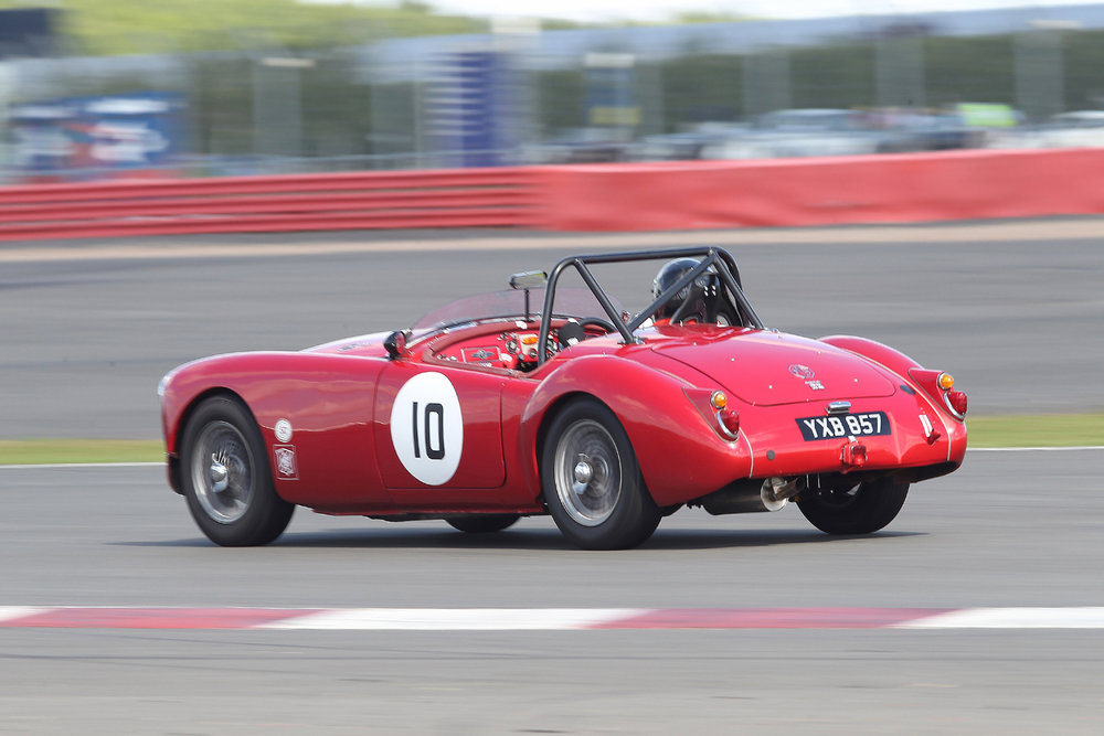 Terry Bryant in his MGA roadster                                                             Photo- Mick Walker
