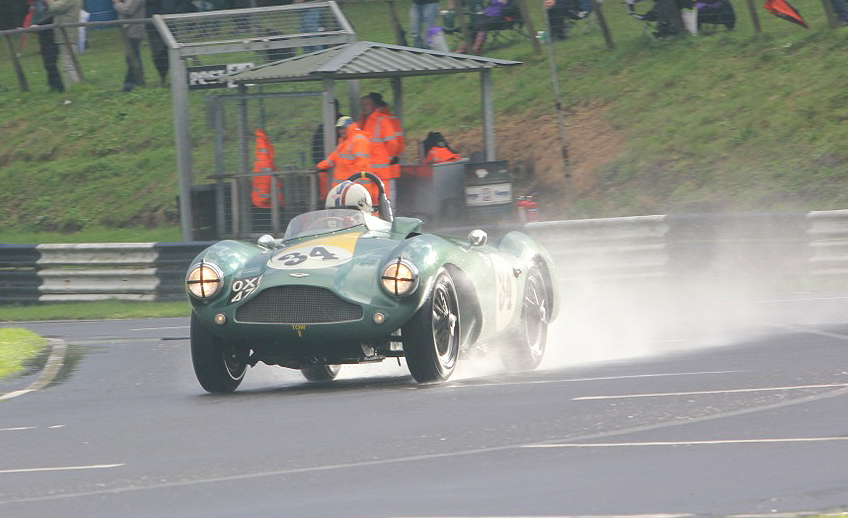 Steve B-Brooks in his winning Aston Martin DB 3S                                                      Photo - Pat Arculus, Tripos Media