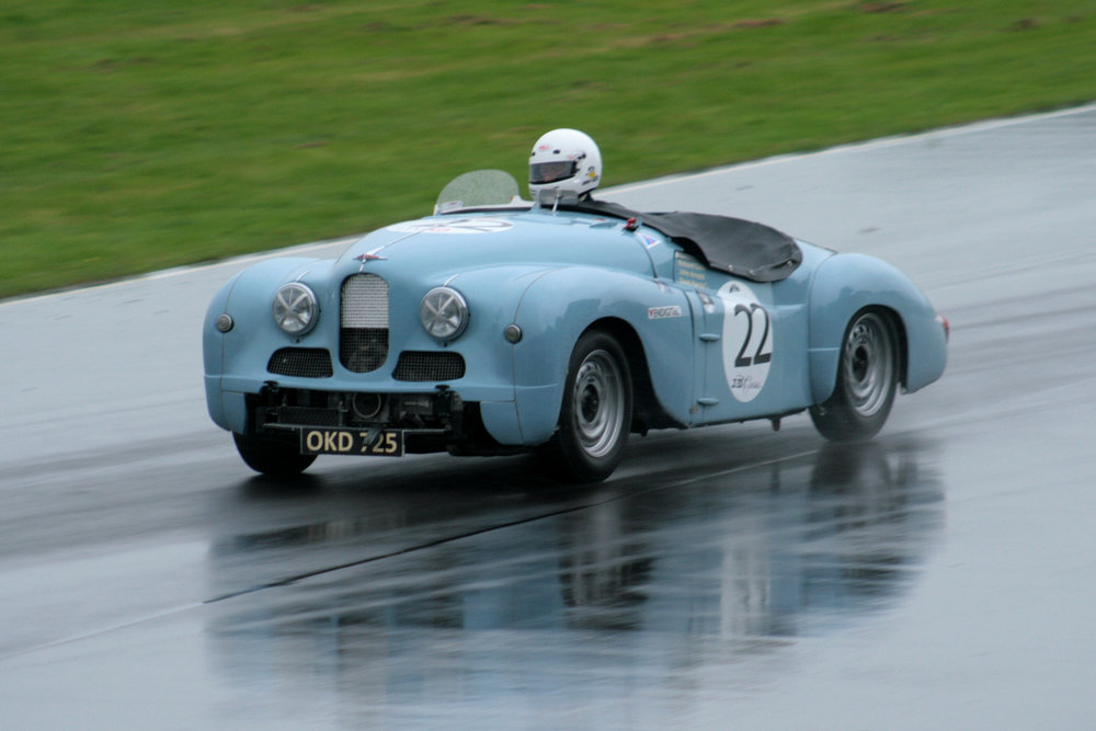 The Jowett Javelin of Richard Gane and John Arnold failed to make the start                               Photo - John Turner
