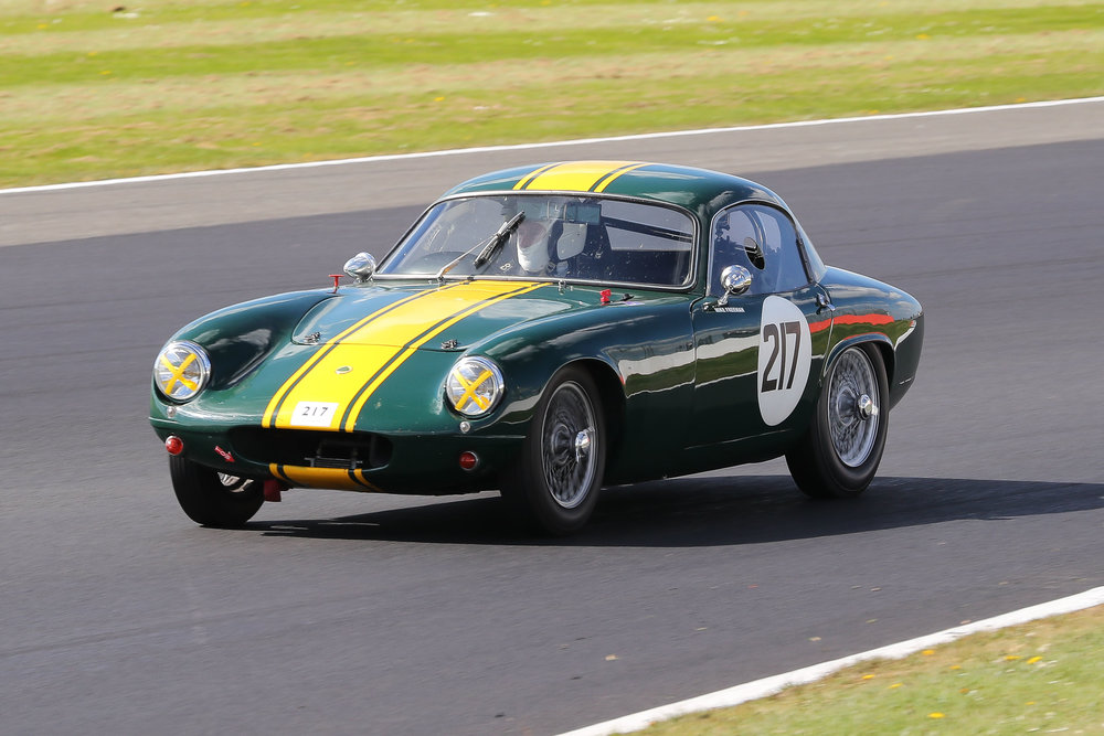 Mike Freeman, comfortably the first of the Lotus Elites home                              Photo - Richard Styles