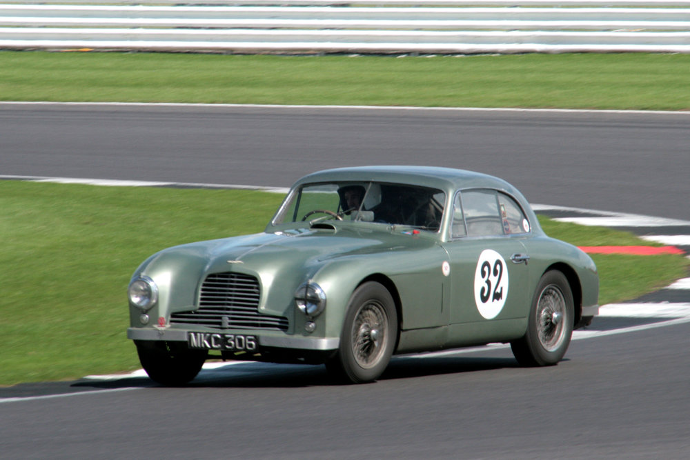 So good to see an Aston GT back on the grid and an early one at that! Mark Campbell's ex Le Mans DB2                   - Photo - John Turner