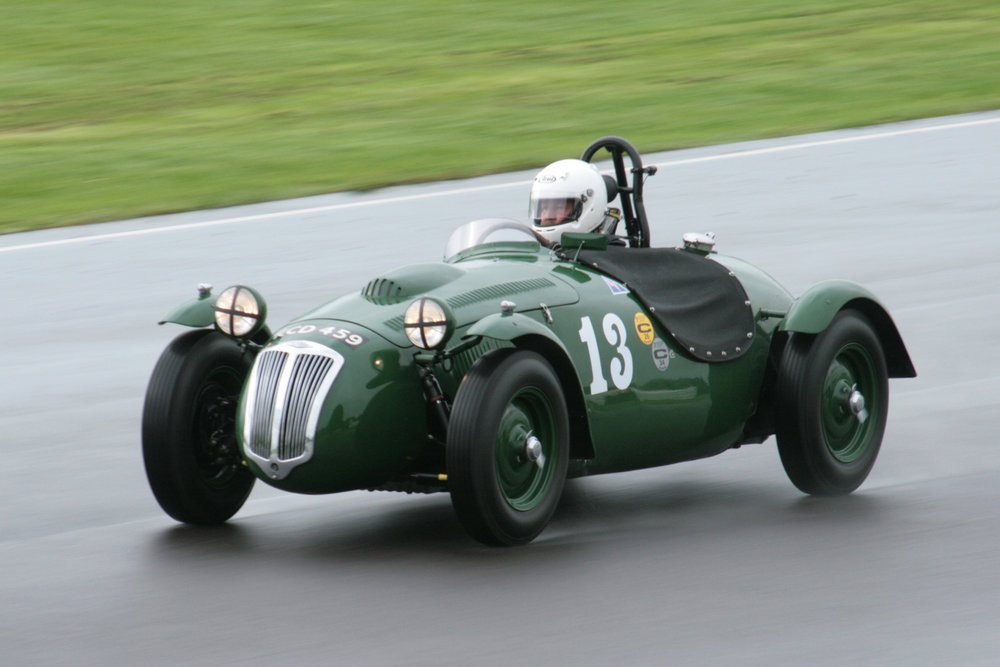Martin Hunt at speed in his Frazer Nash LMR which he shared with Patrick Blakeney-Edwards Photo - John Turner