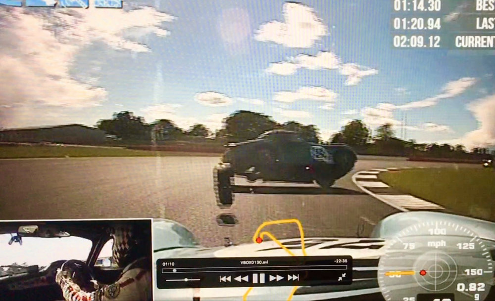 Robin Ellis had the in car camera running and this is a still captured from that footage. Low resolution but gives some indication of the sudden violence of the launch.