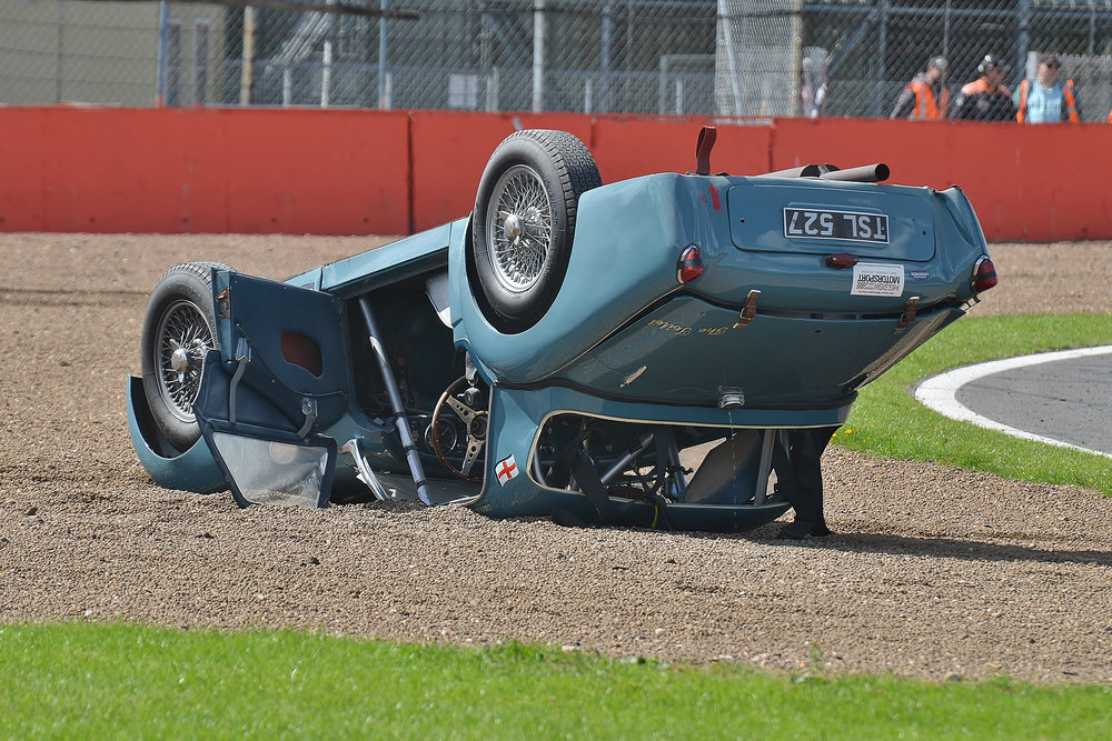 A salutary lesson. Whilst it may appear that the hardtop has survived well the fact is that it would have been crushed but for the substantive roll cage.                                                                                                  photo - Peter Olley, Tripos Media