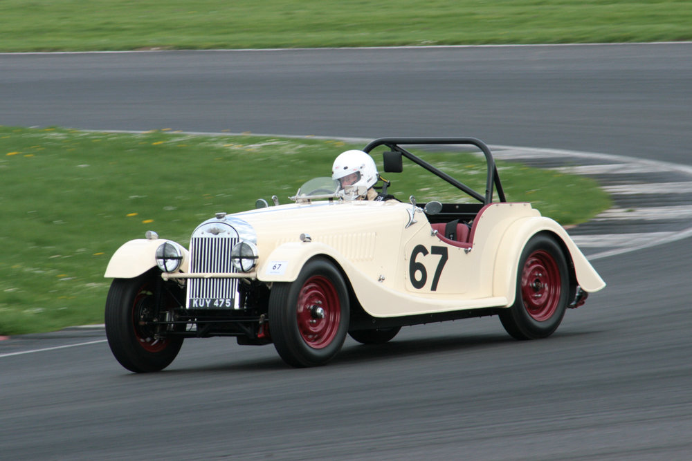 Mark Shear's in his early Morgan plus 4                                                                                                                     Photo - John Turner