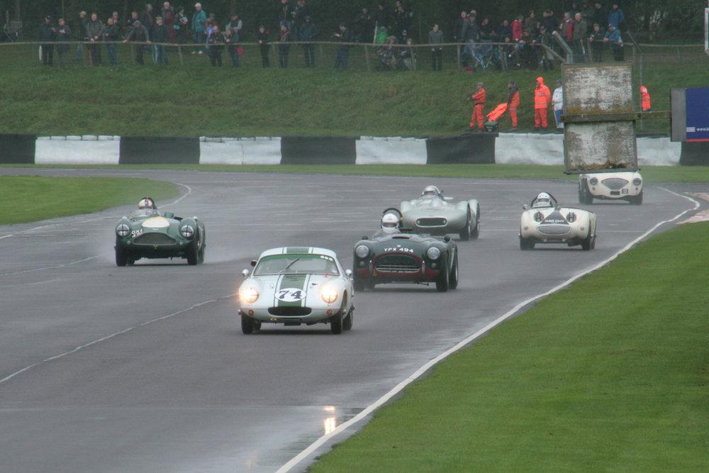 Qualifying got a bit busy at times!                                                                                                               Photo - John Turner