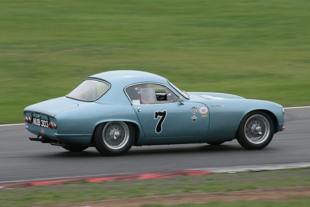 Brain Arculus took the lead from pole and stayed there, in his Lotus Elite  Photo - John Turner