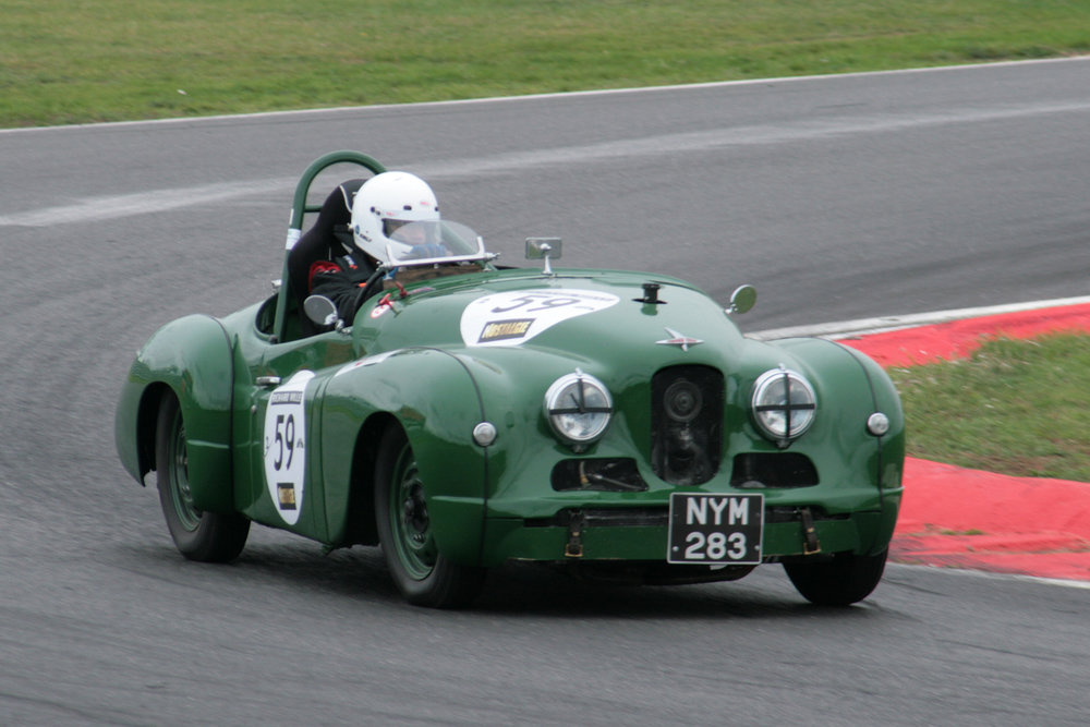 Harry Naerger presses on in the Jowett Jupiter  Photo - John Turner
