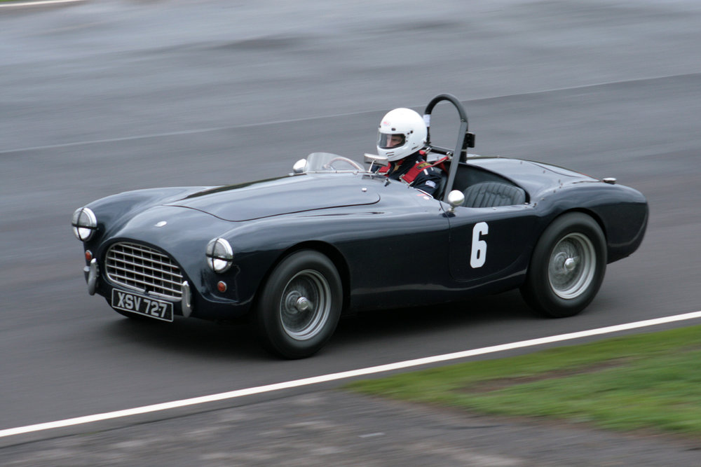 Justin Becket in his AC Ace, winner of the Whitehead Cup and part of the winning Inter-Marque Team.  Photo - John Turner