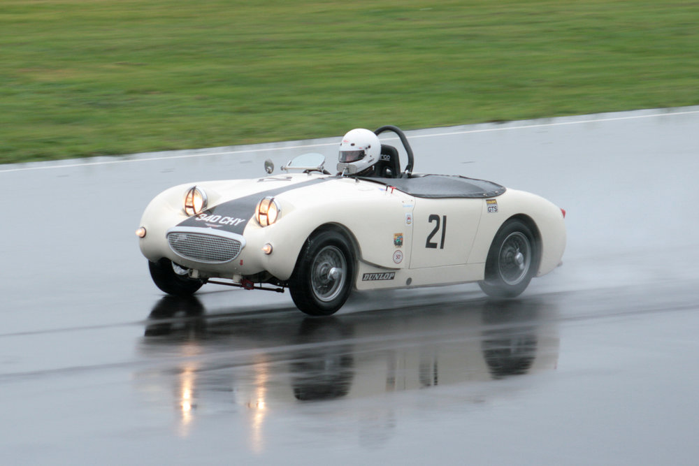 The Frogeye of Drew & Neil Cameron excelled in wet qualifying conditions  Photo - John Turner
