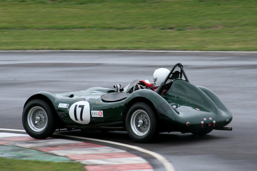 Alex Quattlebaum takes the neat little LECo through the Esses  Photo - John Turner