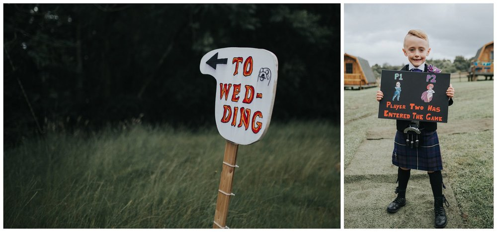 DIY Scottish wedding