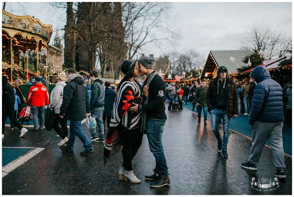 Edinburgh Christmas Market, Couples Shoot, Wedding Photography,  Scotland, Falkirk, Glasgow, Edinburgh, Picturesque by Mr and Mrs M_0004 - Copy.jpg