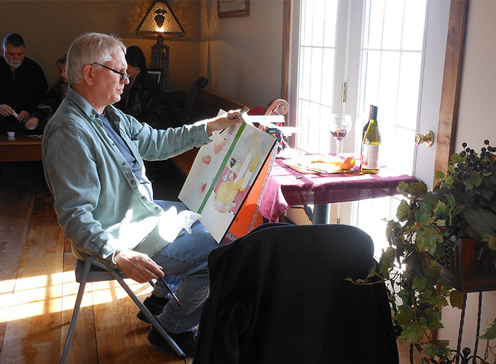 Watercolor Demonstration at St. Joseph Vineyard, Madison, OH