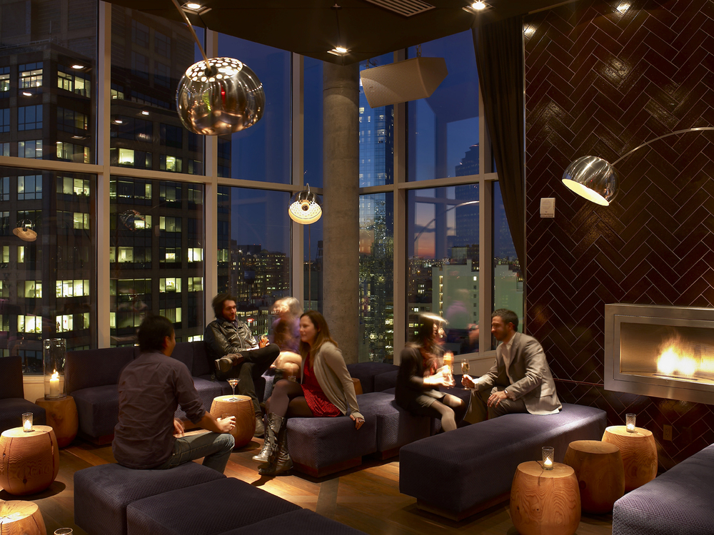 Modern ventless fireplaces modern freestanding for Design hotels nyc
