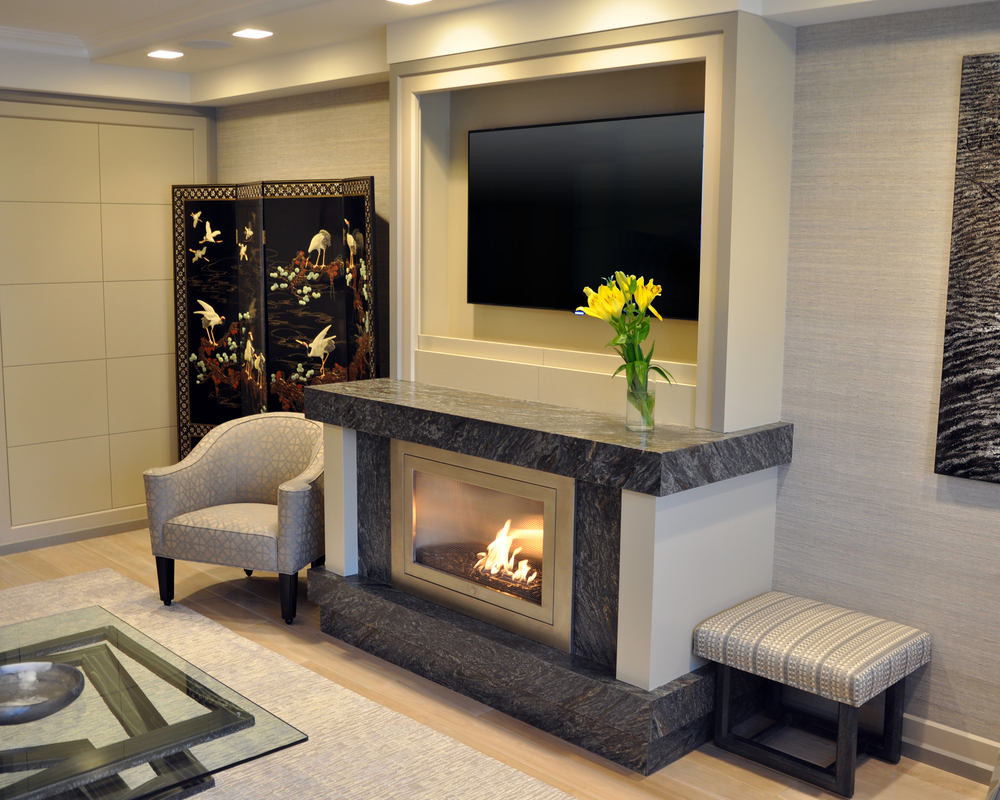 Linear fireplace designs ventless linear fireplaces by for Fireplace material options