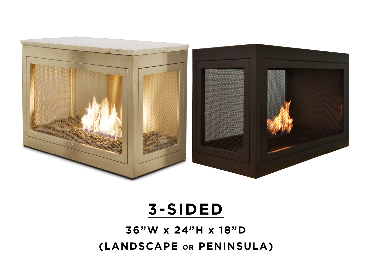 Fireplace Products 3 Sided Fireplace Summer Candles By Hearthcabinet