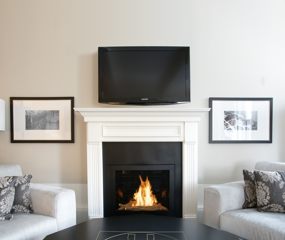 Sarah Check Hearth Cabinet: Ventless Fireplace Photos