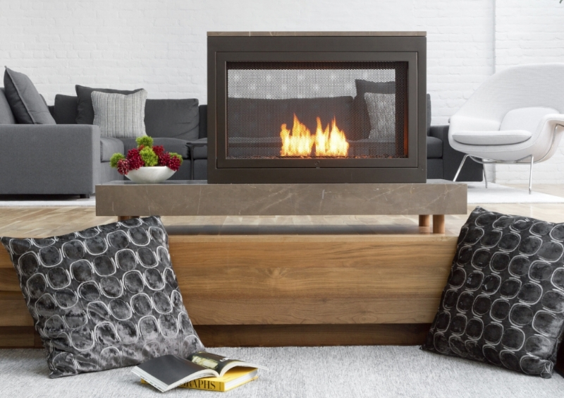 3-Sided Standalone Ventless Fireplace