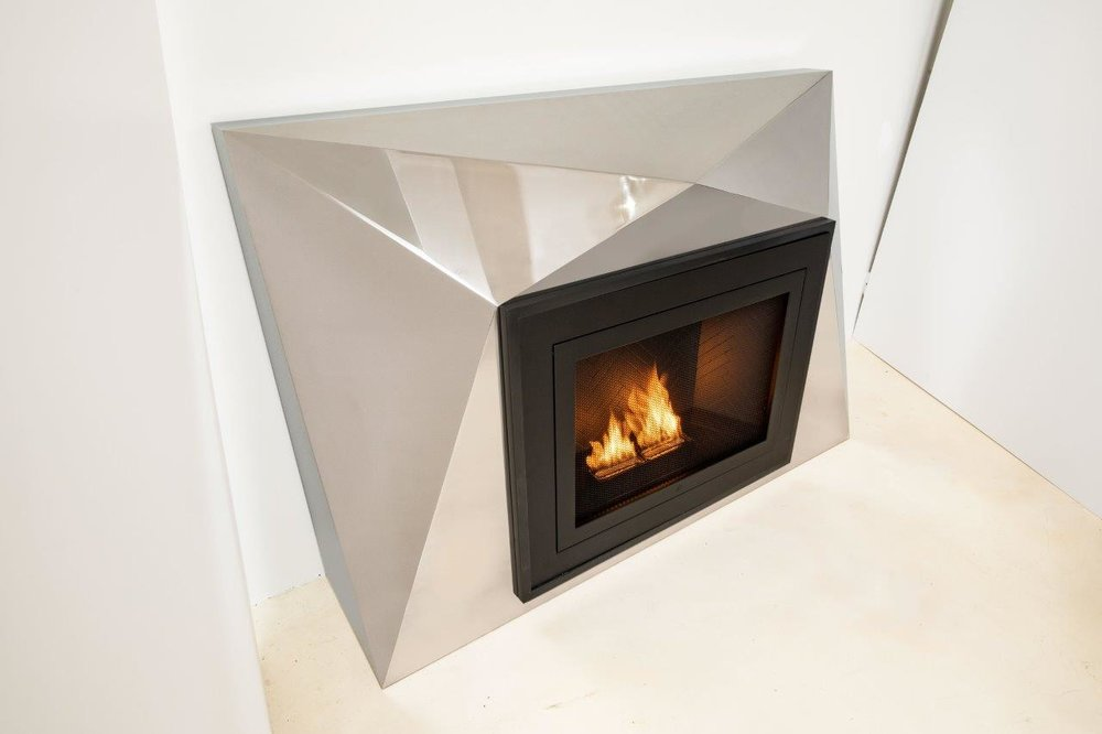 Faceted Fireplace by HearthCabinet® + Cliff Young Ltd.