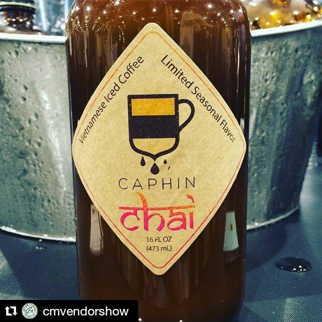 #Repost @cmvendorshow with @repostapp ・・・ Dessert in a bottle being served up by @caphin_inc at booth 579 #cmvendorshow - don't miss the new chai flavor!