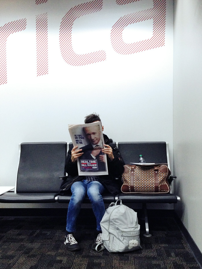 iPhone image taken in the airport. It's not me :) .....or Bill Maher
