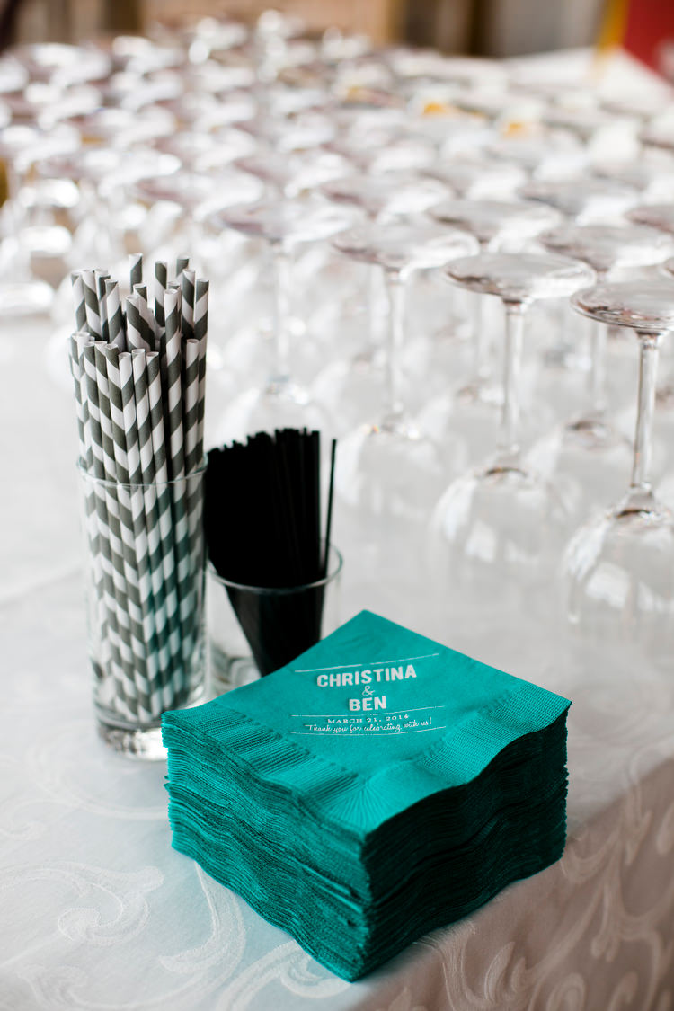 personalized wedding day napkins