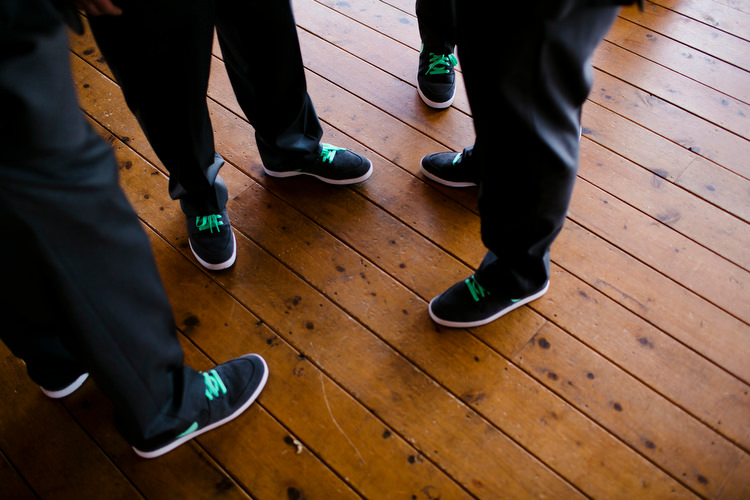 custom color and logo nike shoes for the Groom and groomsmen, with name and date