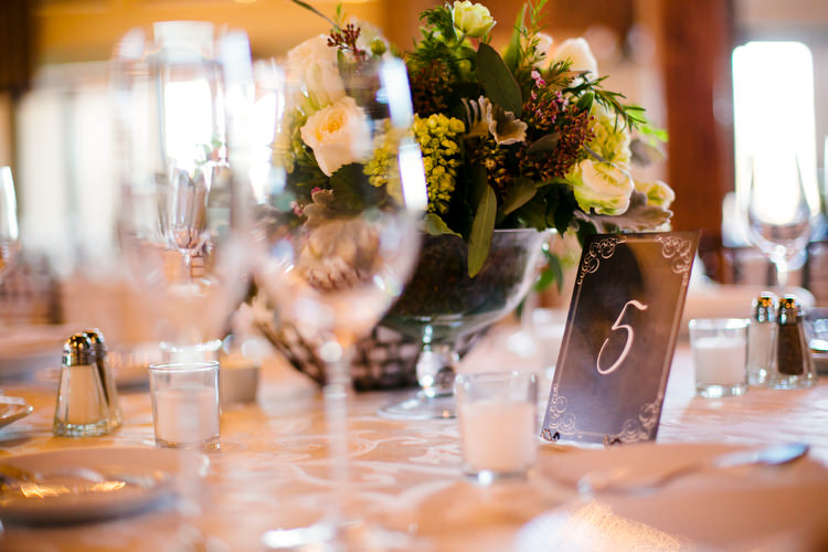 table setting and numbers