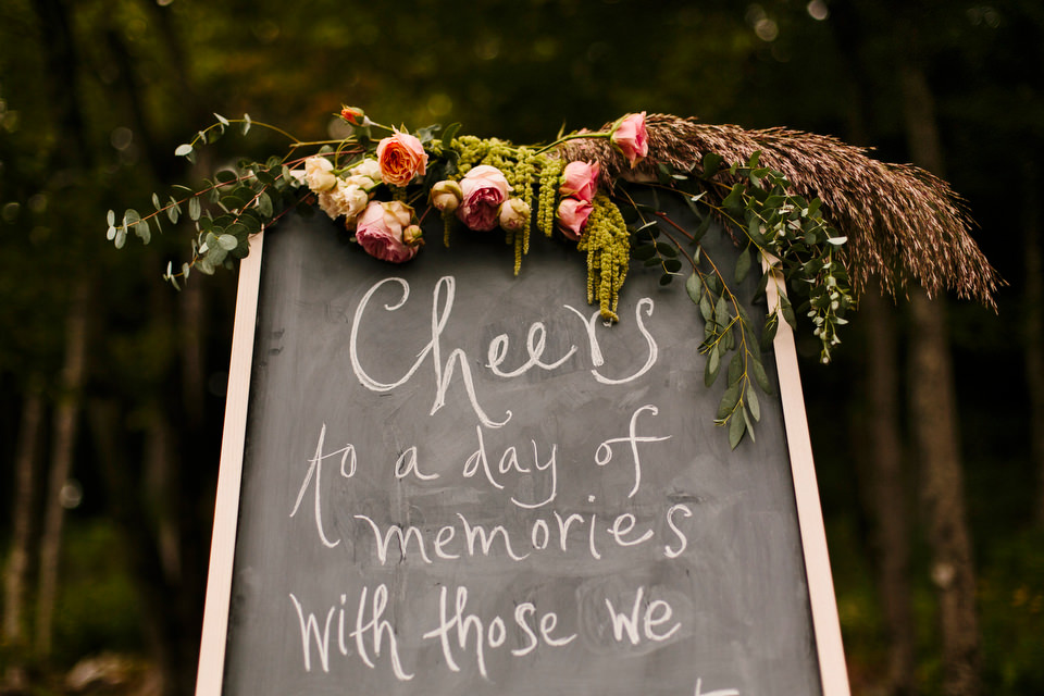 Welcome Chalkboard sign for guests