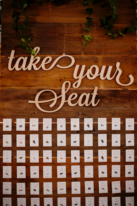 Guest table seating assignments