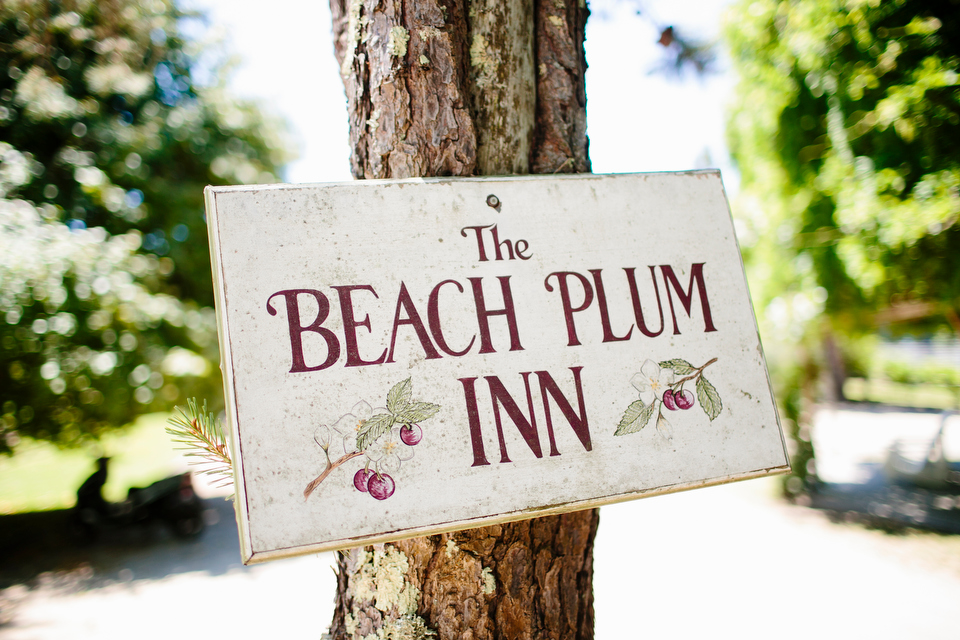 An outdoor wedding hosted at the Beach Plum Inn