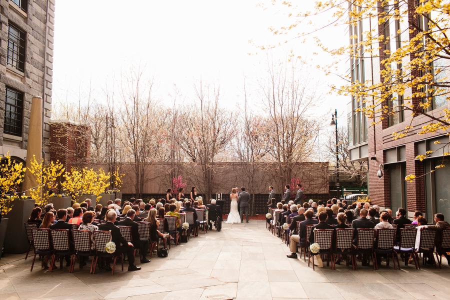 liberty hotel outdoor ceremony