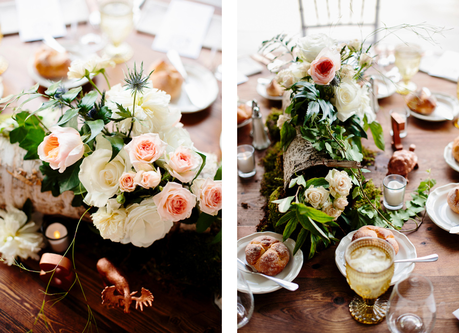 whimsical wedding decor for table