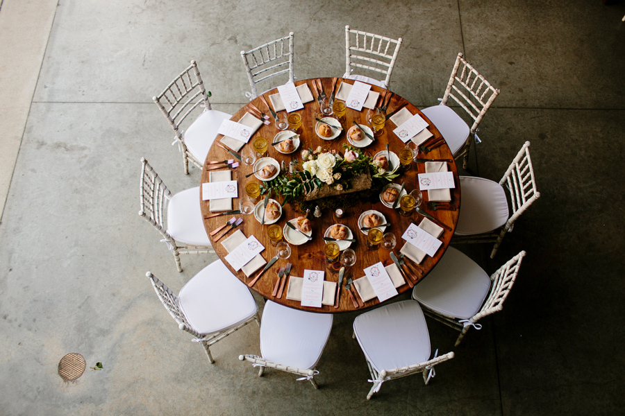 rustic meets modern table