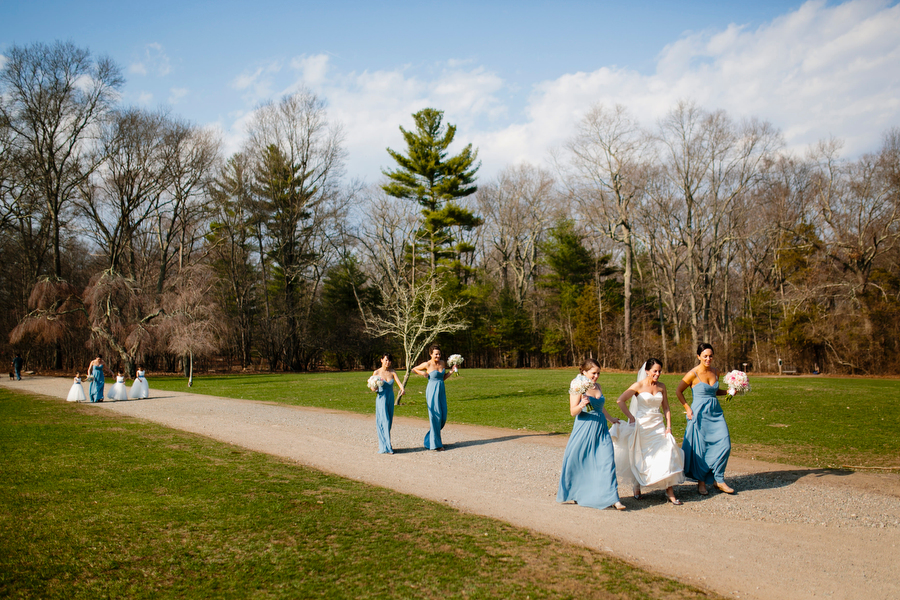 bridal party at borderland state park
