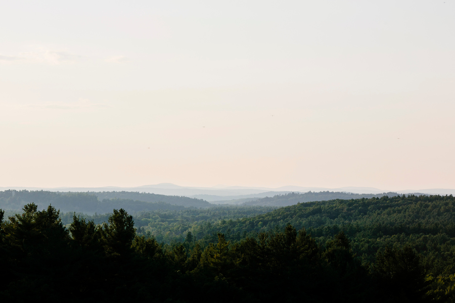 View from Fruitlands Museum exterior wedding