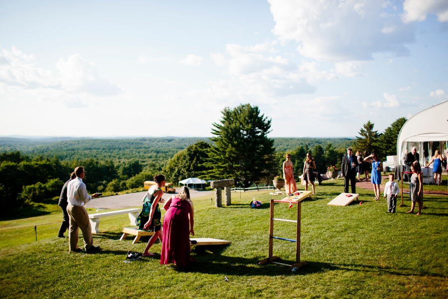Outdoor cocktail hour at fruitlands museum
