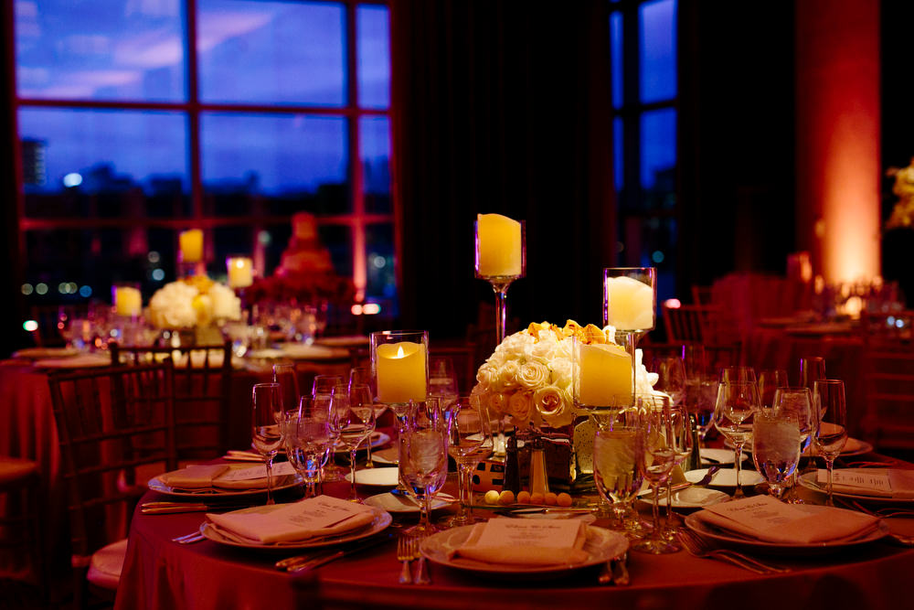 ballroom details and flowers