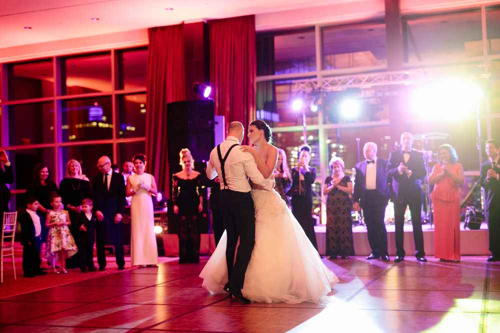 first dance in ballroom