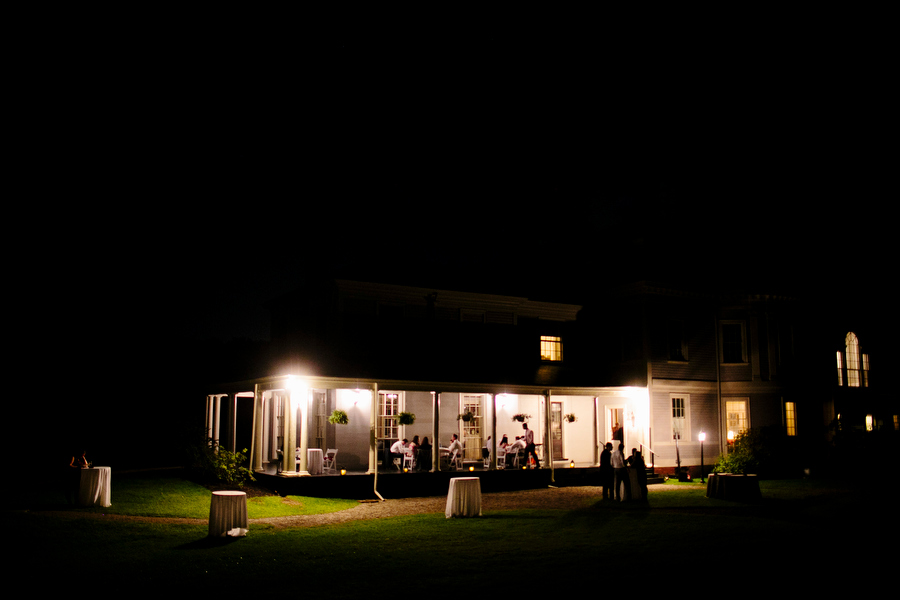 exterior night shot lyman estate